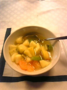 MOO日記-20110121夕食果物