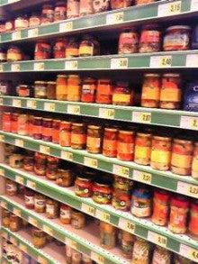 MOO日記-20110122スーパーのピクルスの棚