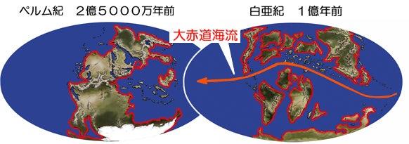 川崎悟司 オフィシャルブログ 古世界の住人 Powered by Ameba-ペルム紀と白亜紀の海岸線