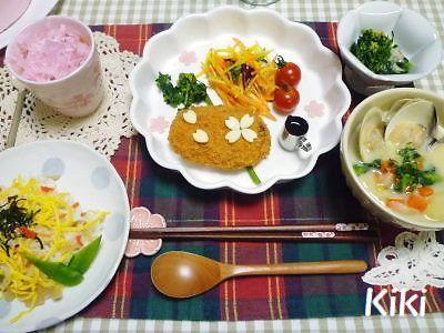 Kikiのキャラ弁1年生-ひな祭り