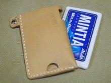 OXIO-CRAFT(オキクラ)の「革雑貨」製作日記-肉球MINTIAケース裏面