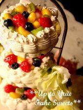 新米作家のフェイクスイーツデコ日記*Up to Yuu Fake Sweets*3段生クリームケーキ