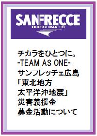 サンフレッチェ広島地震義捐金