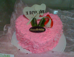 大連(中国)のWebデザイン会社で働く社長のブログ-中国大連のピンクのちょこいっぱいのケーキ