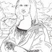 【リンク切れ修正】名画の塗り絵(大人の塗り絵)~モナリザ塗り絵(無料)完成