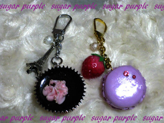 sugar purple~よっしぃのブログ~-チョコ マカロンチャーム
