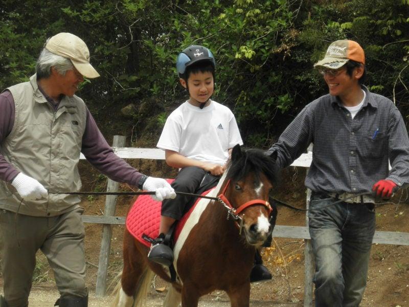 馬を愛する男のブログ Ebosikogen Horse Park-最初は怖がっていたのに