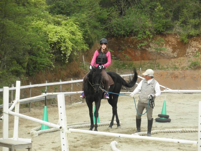 馬を愛する男のブログ Ebosikogen Horse Park-模擬レッスン