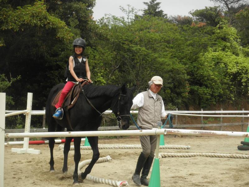 馬を愛する男のブログ Ebosikogen Horse Park-アーサーに乗った女の子