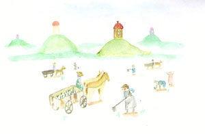 エリッシュ村の人々-苗つけ