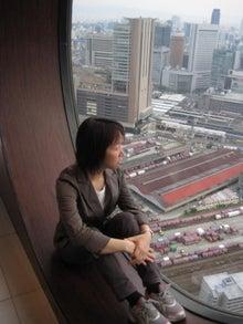 歩き人ふみの徒歩世界旅行 日本・台湾編-大阪駅を見下ろす
