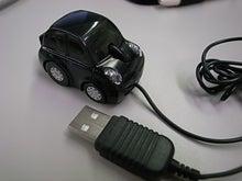 HT-01Aを使ってみる パソコンや周辺機器も使ってみる-マーチ型USBマウス