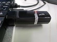 HT-01Aを使ってみる パソコンや周辺機器も使ってみる-充電時
