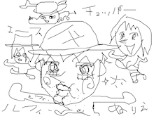 ハルKARAの量産型お尻テポドン夢日記-ワンピース無料ぬりえルフィナミチョッパー画像