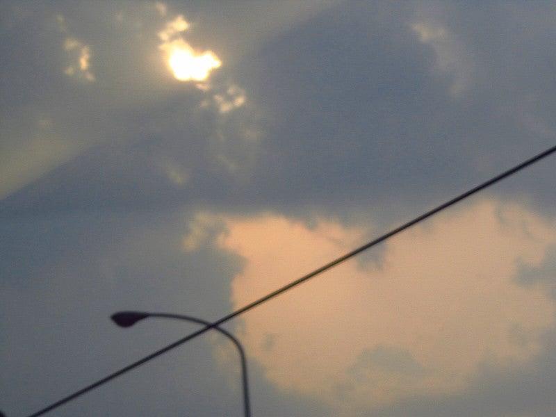 キティーちゃん?夕焼け雲