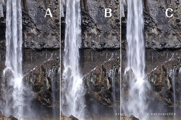 滝とシャッター速度と絞りの関係...