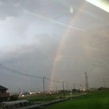 昨日の大きな虹&今日…