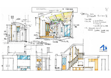 街のフリーハンド デザイン-インテリア
