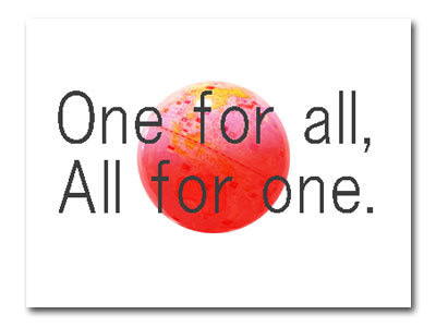 one for all | イラストと雑貨 A...