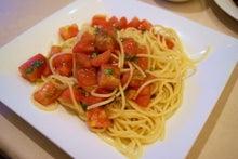 食べて飲んで観て読んだコト-冷製トマトのパスタ