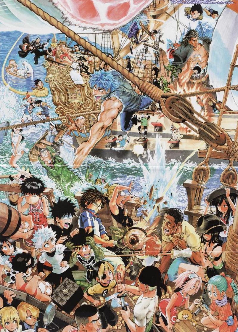 村田雄介のジャンプキャラ集合絵がすごすぎた いこいのん