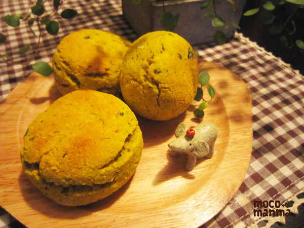 モコマンマ -簡単お料理レシピとペットと手作り日記--かぼちゃスコーン
