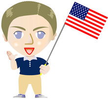 エリック先生のイーイーアカデミーブログ-eric with flag