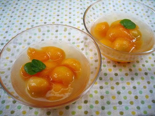 ひよこ食堂-プリンスメロンの白ワインゼリー02