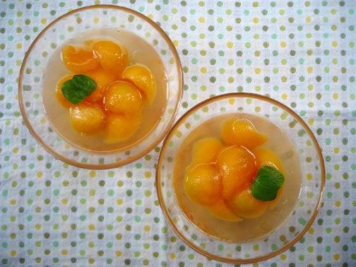 ひよこ食堂-プリンスメロンの白ワインゼリー03
