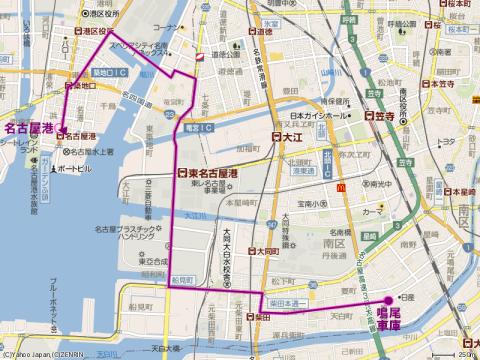 名古屋市バス 路線図