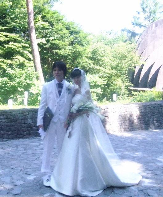 花嫁のブーケ-新郎新婦 お写真