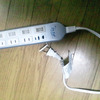 アクシデント発生!電気タップがコゲました。の画像