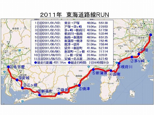 Go My Wayな stuart日記-TokaiRunMap