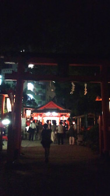 奈良ふしぎ歴史徹底攻略! 学校・教科書では教えてくれない奈良を親子でも100倍楽しめる観光ガイドブックブログ-源九郎稲荷神社 夕涼み大会