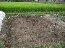 耕作放棄地をショベル1本で畑に開拓!週2日で10時間の野菜栽培の記録 byウッチー-110823畝・畝間交換04