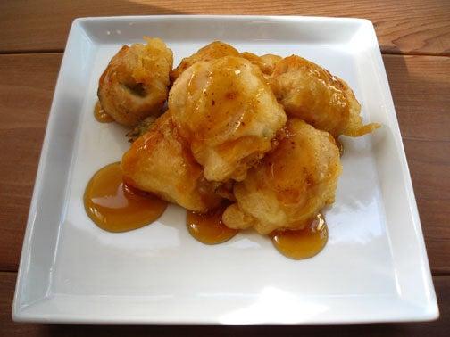 ひよこ食堂-鶏肉の梅しそ巻きフリッター with甘だれのご02