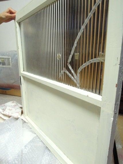 リノベーションで北海道の豊かな暮らし-モールガラスの扉