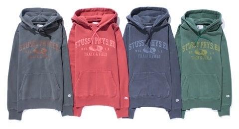 Stussy x Champion Track   Field Pullover Hoodie Price   ¥14 8ef4861b077