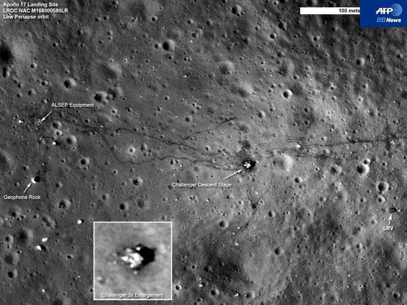 「頑張ろう!千葉」-AFP配信--アポロ17号の足跡