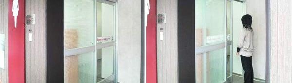 新宿御苑前 403新宿ギャラリースタッフ日記-電気の要らない自動ドア。SA