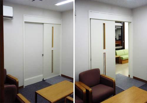 新宿御苑前 403新宿ギャラリースタッフ日記-電気の要らない自動ドア。応接室。