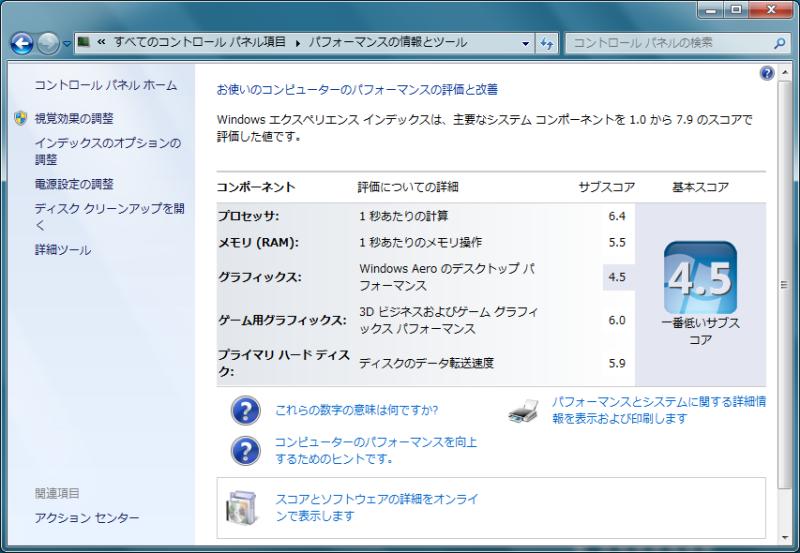 NEC特選街情報 NX-Station Blog-ThinkPad L520 パフォーマンスの評価