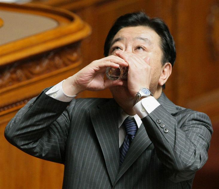 マダン野田総理 朝鮮式水飲みがバレた?の記事より