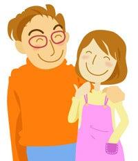 「夫婦 イラスト 無料」の画像検索結果