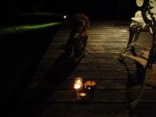 古材流通熊本店のブログ-マッキとろうそくの明かり1