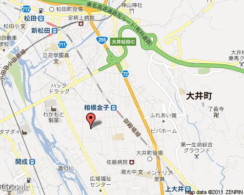 $神奈川県大井町 肩こり・腰痛から体質改善までしっかり癒すカーム治療室  -神奈川 地図