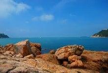 夫婦世界旅行-妻編-香港の青い海