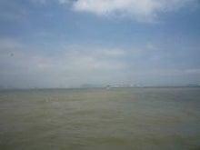 夫婦世界旅行-妻編-マカオの茶色い海
