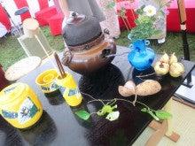 遥香の近況日記-イングリッシュ野点の茶道具