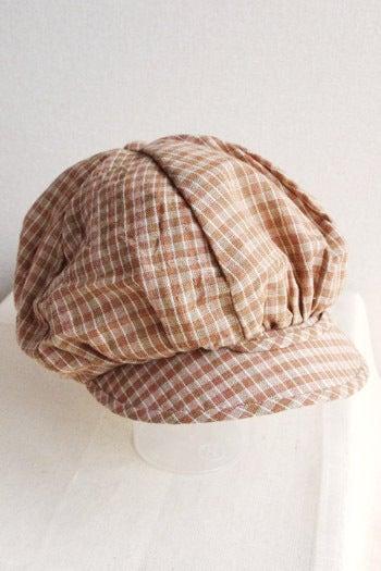 $*カンボジアの綿クロマーと赤ちゃん帽子のお店*-大人用キャスケット